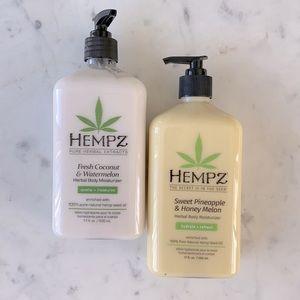NEW HEMPZ Herbal Body Moisturizers - 2 Pack